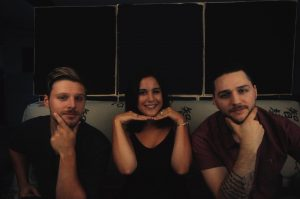 Brandon Olsen and Spencer Duffany with studio manager Kate Lizotte (Photo provided by Kate Lizote)