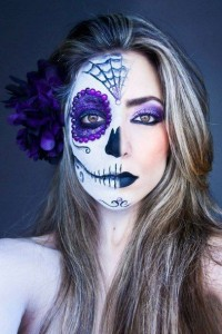 One Halloween makeup trend is the do-it-yourself Sugar Skull (Photo obtained via Pinterest)