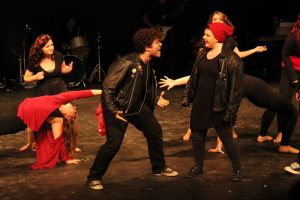 Zachary Fontenez and Katie McGoff in Caberet (Photo by Samantha Reposa/Charger Bulletin photo)