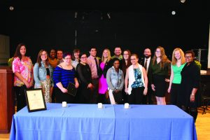Members of Delta Alpha Pi  (Photo by Jaime Graden/Charger Bulletin photo)