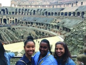 Students visit the Colosseum  (Photo provided by Takeisha Sinclair)