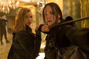 Jennifer Lawrence and Natalie Dormer in Mockingjay Part 2 (AP photo)