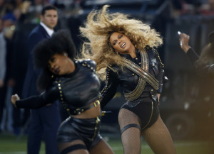 Beyonce during her Super Bowl 50 performance (AP photo)
