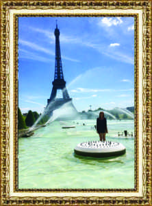"Katie Harrison,  Senior Trocadero Fountain Paris, France June 2015 ""Sometimes, I like to stand in fountains in Paris."""