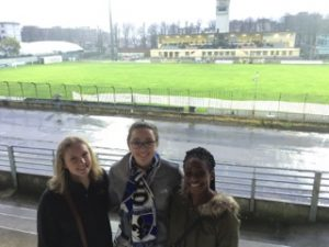 Deanna, Anelia, and Iyana at the Prato soccer game (photo provided by Anelia Marston)