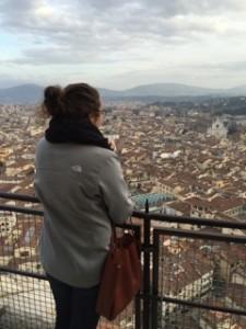 Anelia overlooking Florence (Photo provided by Anelia)