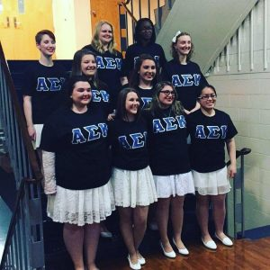 The new sisters of Alpha Sigma Kappa (Photo provided by Maria Vlahos)