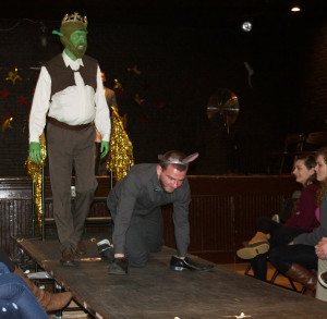 Participants dressed as Shrek and Donkey (Photo by Julie Schneidenbach)