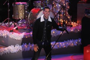 Andy Grammer during his perfromance at the Rockefeller Christmas Tree Lighting  (AP photo)