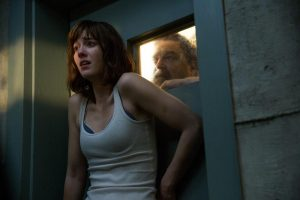 Mary Elizabeth Winstead and John Goodman in a scene from 10 Cloverfield Lane, in theaters now  (AP photo)